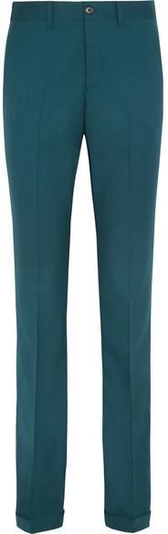 Miu MiuMiu Miu - Stretch-wool Twill Flared Pants - Jade