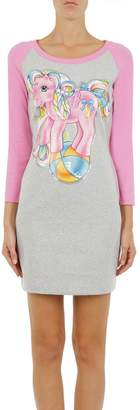 Moschino Dress Long Sleeves Two-color T-shirt Dress With My Little Pony Print And Logo