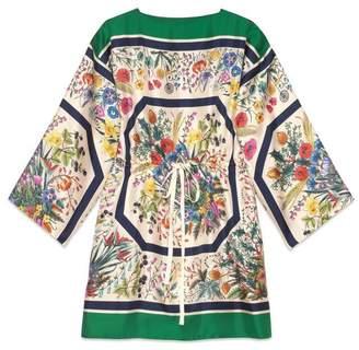 Gucci Silk kaftan with floral print