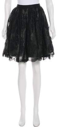Alice + Olivia A-Line Lace Skirt