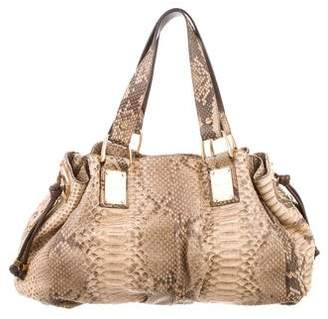 f6c49739c1e6 czech pre owned at therealreal michael kors python rehearsal bag 8af3f 2f670