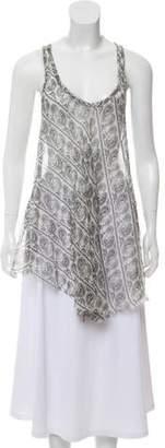 Pierre Balmain Silk Print Mini Dress