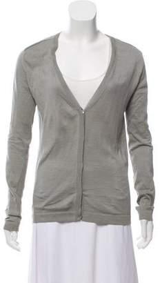 Calvin Klein Collection Silk-Blend Long Sleeve Cardigan