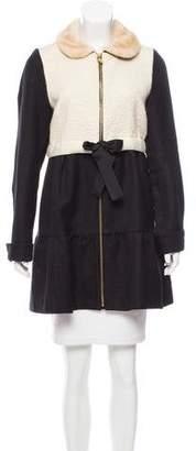 Manoush Faux-Fur-Trimmed Wool-Blend Coat
