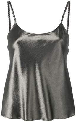 Max Mara camisole metallic top