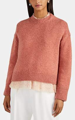 Brock Collection Women's Cashmere Crop Mock-Turtleneck Sweater - Pink