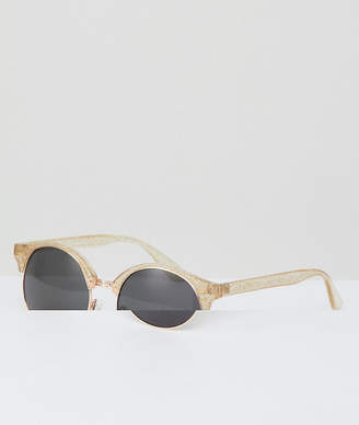 A. J. Morgan Aj Morgan Retro Sunglasses In Crystal Glitter