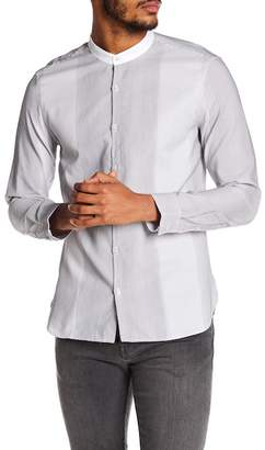 John Varvatos Collection Stitched Stripe Slim Fit Shirt