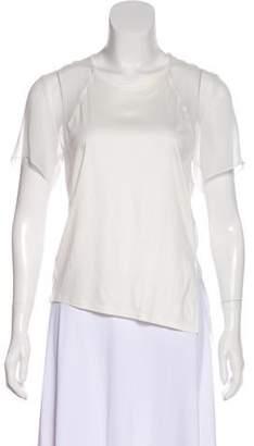 Helmut Lang Semi-Sheer Short Sleeves Top
