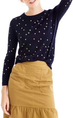 J.Crew Tippi Embroidered Stars Sweater