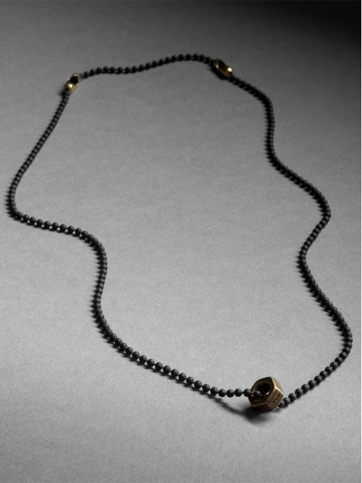 Chain bolt necklace by Philip Crangi