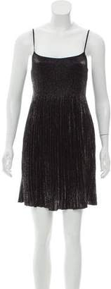 Vivienne Tam Pleated Metallic Dress