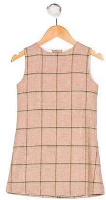 Papo d'Anjo Girls' Sleeveless Wool Dress