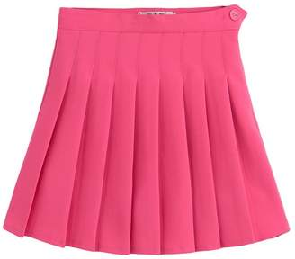 COMVIP Women High Waist Pleated Skirt Baseball Simple Short Dress XXL