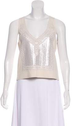 Sally LaPointe Embellished Knit Top w/ Tags