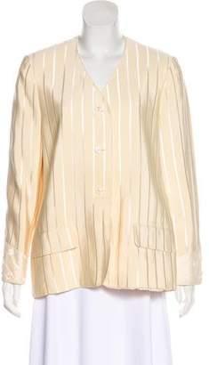 Geoffrey Beene Collarless Structured Jacket