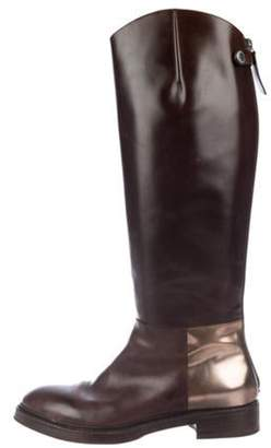 Brunello Cucinelli Leather Riding Boots Brown Leather Riding Boots