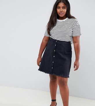 Junarose Frayed Hem Denim Skirt