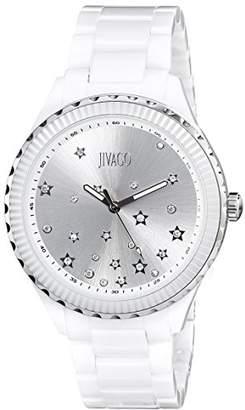 Jivago Women's JV2410 Sky Analog Display Swiss Quartz White Watch