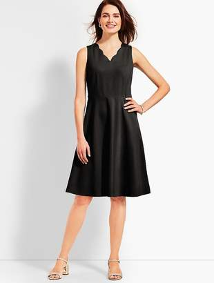 Talbots Refined Ponte Fit and Flare Dress