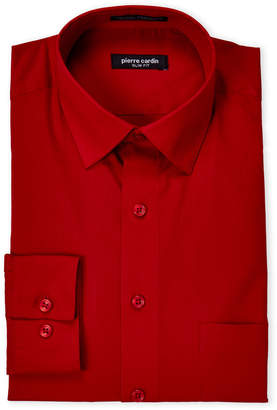 Pierre Cardin Red Slim Fit Dress Shirt