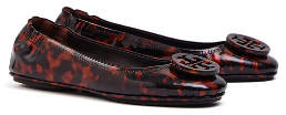 Tory Burch Minnie Travel Ballet Flats, Printed Patent Leather