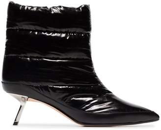 Ballin Alchimia Di Black Daphne 55 Satin Puffer Boots