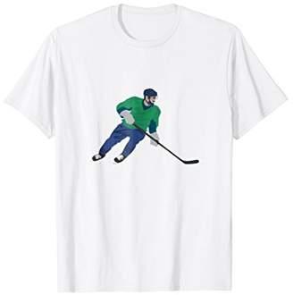 Cool Ice Rink Tees - Skating Canuck Ice Hockey T-Shirt