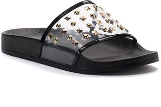 Jennifer Lopez Bodhi Women's ... Studded Slide Sandals FyMeMg7
