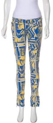 Monika Chiang Printed Mid-Rise Jeans