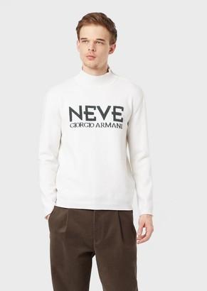 Giorgio Armani Neve Mock Polo Neck In Wool And Cashmere