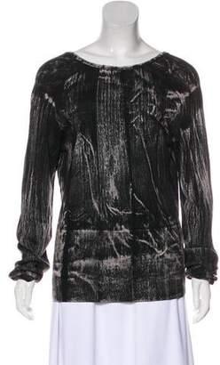 Balenciaga Wool Long Sleeve Top