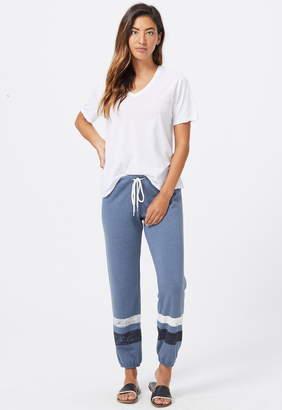 Monrow Vintage Sweatpants With Printed Stripes