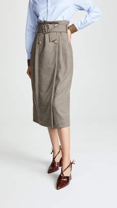 Anna October Tweed Midi Skirt