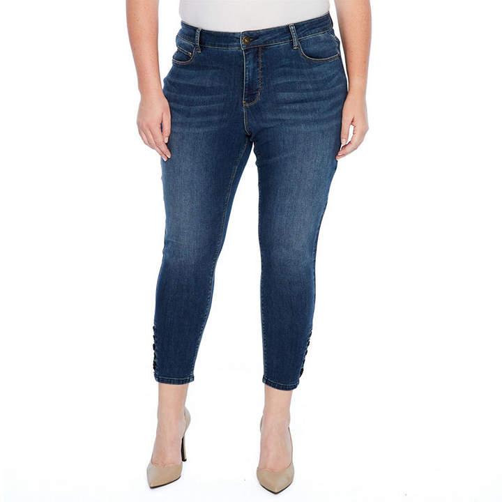 STITCH STAR Star Stitch Lace Up Crop Jean - Plus