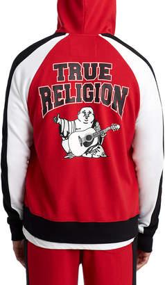 True Religion MENS COLORBLOCK RAGLAN ZIP UP HOODIE