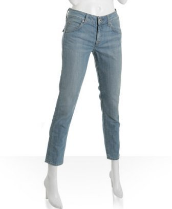 Hudson light wash tapered cropped jeans