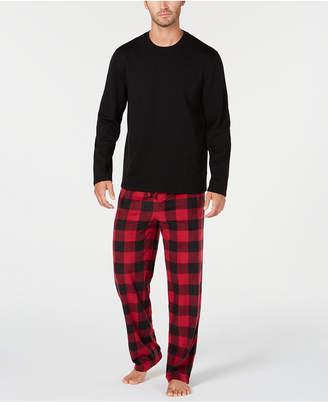 Club Room Men Plaid Fleece Pajama Set