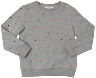 Stella McCartney Heart Appliqués Cotton Sweatshirt