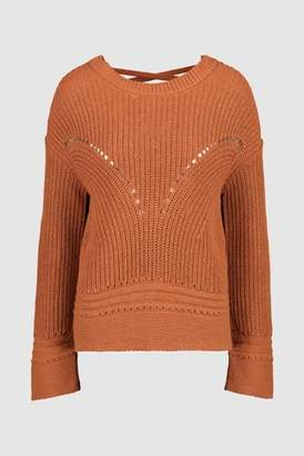 Next Womens Ochre Cross Back Jumper