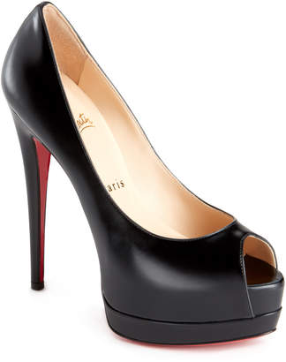 Christian Louboutin Palais Royal Peep Toe Platform Pumps