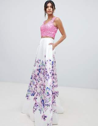 Forever Unique floral skirt prom dress