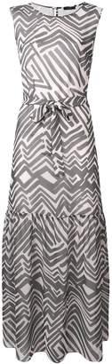 Peserico zebra print belted dress