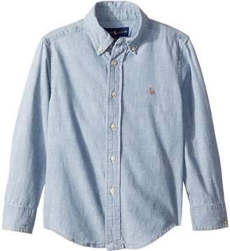 Polo Ralph Lauren Indigo Cotton Chambray Shirt Boy's Clothing