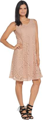 Joan Rivers Classics Collection Joan Rivers Regular Length Classic Lace Sleeveless Dress