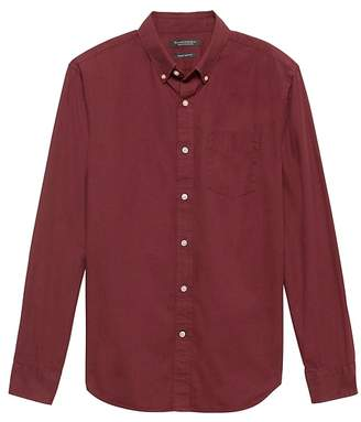Banana Republic Grant Slim-Fit Heathered Oxford Shirt