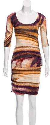 Gianfranco Ferre Printed Ruched Dress