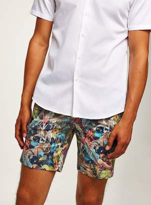 Topman Jungle Printed Shorts
