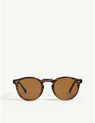 Oliver Peoples Gregory Peck tortoiseshell round-frame sunglasses