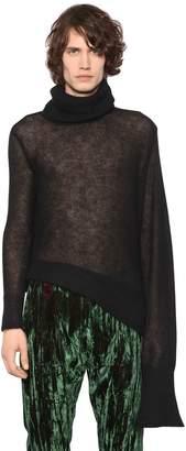 Ann Demeulemeester Asymmetric Mohair Turtleneck Sweater